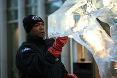 London Ice Sculpting Festival 2012 Royalty Free Stock Photo