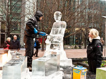 London Ice Sculpture Festival Royalty Free Stock Photos