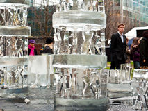 London Ice Sculpture Festival Royalty Free Stock Images