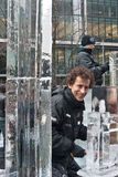 London Ice Sculpture Festival. Royalty Free Stock Photography