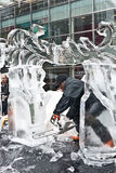London Ice Sculpture Festival. Stock Photo