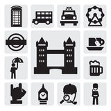 London icons royalty free illustration