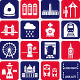 London icons Stock Images