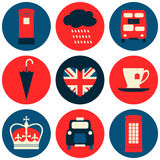 London Icons Collection Royalty Free Stock Photography