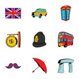 London icons set, cartoon style Stock Photo