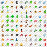 100 london icons set, isometric 3d style. 100 london icons set in isometric 3d style for any design vector illustration Stock Image