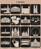 London-Ikonen Lizenzfreie Stockfotografie
