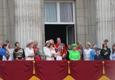London im Juni 2016 - sammelnd des 90. der Geburtstag der Farbekönigin-Elizabeths Stockfoto