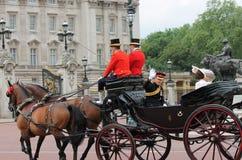 London im Juni 2016 - sammelnd des 90. der Geburtstag der Farbekönigin-Elizabeths Stockfotografie
