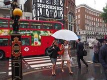 London In The Rain Royalty Free Stock Photo