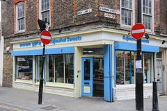London Indian store Royalty Free Stock Photography
