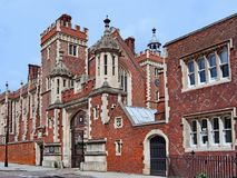 London, Inns of Court, Lincoln`s Inn. Historic legal education and law office building stock image