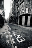 LONDON - JAN 18: Old Street area of inner city London on January Royalty Free Stock Image