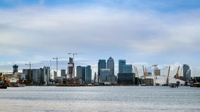 LONDON - JAN 10 : View of contemporary buildings in Docklands Lo Stock Images