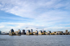 LONDON - JAN 10 : View of the Thames Barrier in London on Jan 10. 2016 Royalty Free Stock Image