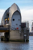 LONDON - JAN 10 : View of the Thames Barrier in London on Jan 10 Stock Images
