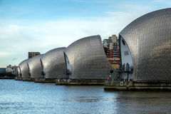 LONDON - JAN 10 : View of the Thames Barrier in London on Jan 10 Royalty Free Stock Photography