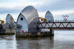 LONDON - JAN 10 : View of the Thames Barrier in London on Jan 10. 2016 Stock Image