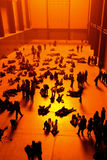 London - January 21, 2004: Eliasson's The Weather Project, which Royalty Free Stock Photos