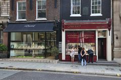 London jewellery shopping Royalty Free Stock Photography