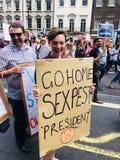 London 14 Juli 2018 Protestmarsch om besök för presidenttrumf` s till UK Royaltyfria Foton