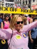 London 14 Juli 2018 Protestmarsch om besök för presidenttrumf` s till UK Royaltyfri Foto