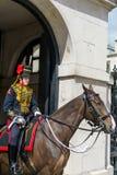 LONDON - JULY 30 : Kings Troop Royal Horse Artillery in Whitehal. L London on July 30, 2017. Unidentified woman Royalty Free Stock Image
