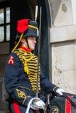 LONDON - JULY 30 : Kings Troop Royal Horse Artillery in Whitehal. L London on July 30, 2017. Unidentified woman Stock Images