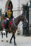 LONDON - JULY 30 : Kings Troop Royal Horse Artillery in Whitehal. L London on July 30, 2017. Unidentified woman Royalty Free Stock Photography