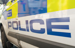LONDON - JULY 2, 2015 : Police van parked in the street of Londo Royalty Free Stock Image