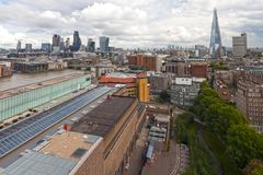 Shard London Bridge or Shard of Glass  from aerial view. LONDON, july 24, 2017 : Shard London Bridge chiamato anche Shard of Glass Royalty Free Stock Photography