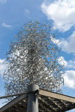 LONDON - JUNE 25 : Anthony Gormley's Quantum Cloud sculpture nex Royalty Free Stock Photo