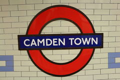 LONDON - June 1: Camden Town underground station Stock Photos