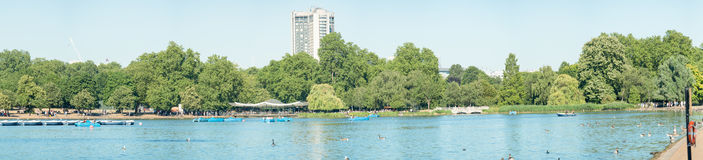 LONDON - JUNE 30, 2015: Hyde Park on a beautiful summer day. Lon Stock Photo