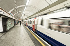 LONDON - JUNE 16: Inside view of London underground on June 16, Stock Image