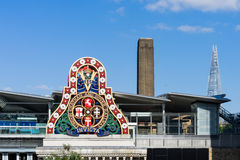 LONDON - JUNE 10 : Modern Buildings and an Old Railway Company S Royalty Free Stock Photos