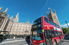 LONDON - JUNE 14: The much heralded hybrid 'New Bus For London' Stock Photo