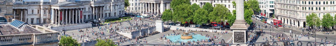 LONDON - JUNE 2015: Panoramic aerial view of city life around Tr Royalty Free Stock Images