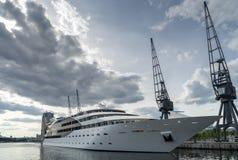 LONDON - JUNE 25 : Sunborn Hotel Royal Victoria Dock  in London Stock Photography