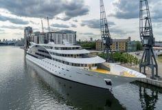LONDON - JUNE 25 : Sunborn Hotel Royal Victoria Dock  in London Stock Image