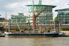 LONDON - JUNE 25 : Thames barge moored on the River Thames in Lo Royalty Free Stock Images