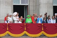 London June 2016- Trooping the color Queen Elizabeth's 90th Birthday Stock Photography