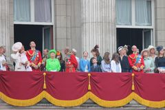 London June 2016- Trooping the color Queen Elizabeth's 90th Birthday Stock Photos