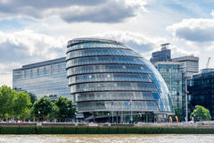 LONDON - JUNE 25 : View of City Hall from the River Thames in Lo Stock Photo