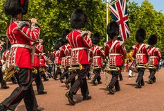 The Queens birthday Trooping the Colour royalty free stock images