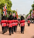 The Queens birthday Trooping the Colour stock photography