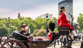 The Queens birthday Trooping the Colour stock images