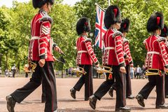 The Queens birthday Trooping the Colour stock photos