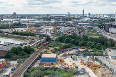 LONDON - JUNE 25 : View towards the Olympic Village from London' Stock Photography