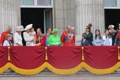 London Juni 2016 - gå i skaror färgen göra till drottning Elizabeths 90th födelsedag Arkivbild